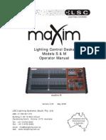 MaXim+S M+v3.0+Operators+Manual
