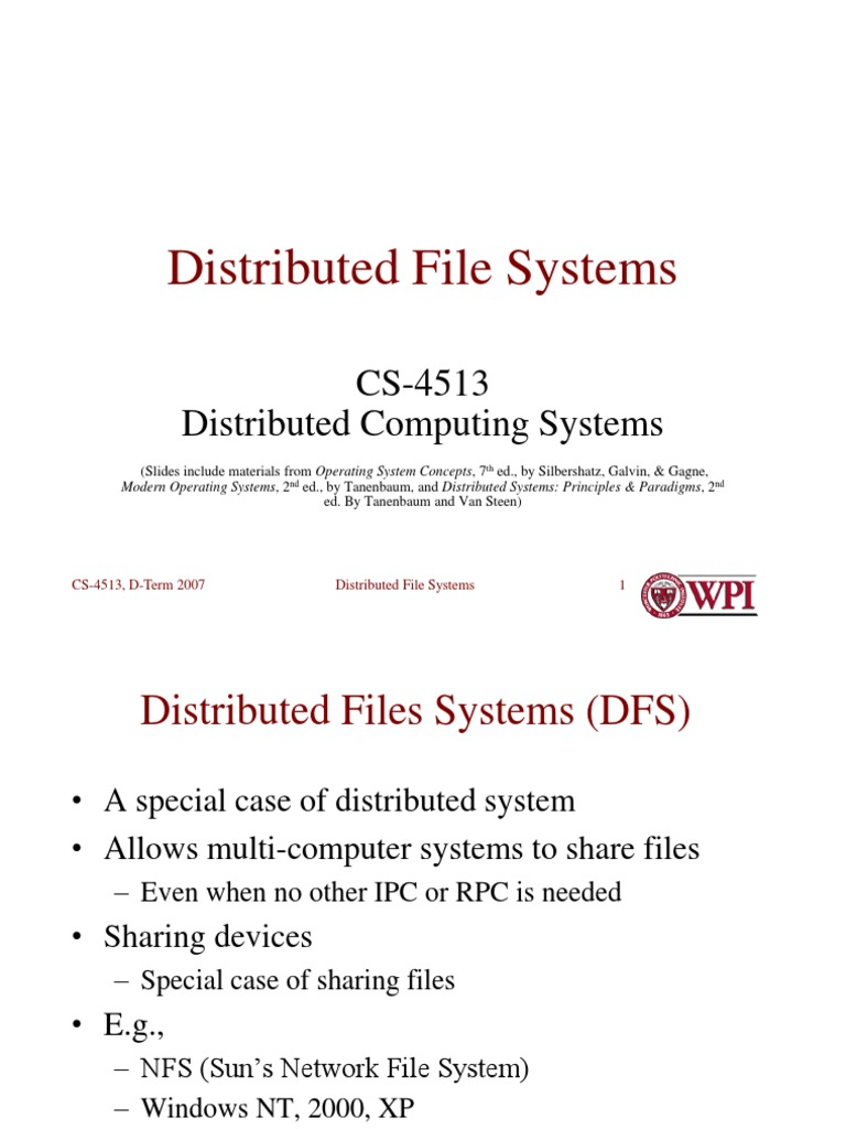 Distributed operating system ppt tanenbaum
