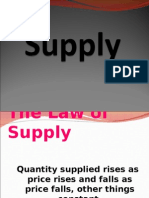 Law of Supply and Elasticity of Supply