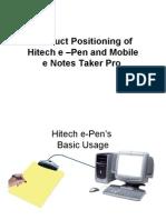 Hitech e Pen and e notes taker