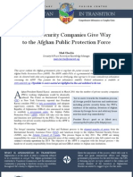Private Security Companies Give Way to the Afghan Public Protection Force