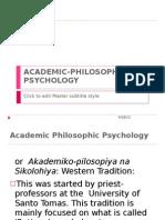 Academic Philosophic Psychology