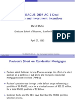 ABACUS 2007 AC-1 Deal Structure and Investment Incentives_Darrell Duffie