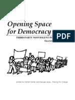 Opening Space Curriculum Democracy Training