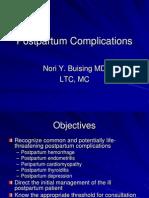 Postpartum Complications