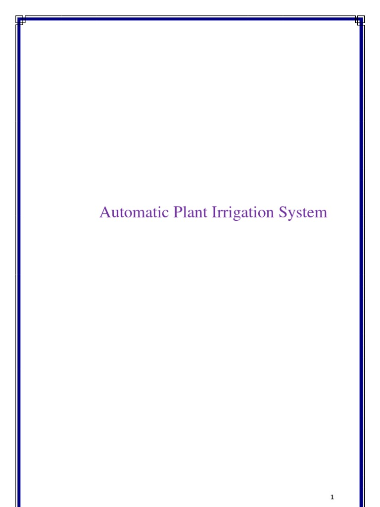 Automatic Plant Irrigation System   Relay   Operational Amplifier