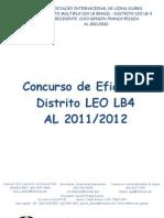Concurso de Eficiência  LEO LB-4 AL 2011_2012