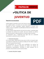 Políticas de Juventud - Ricardo Alfonsín 2011