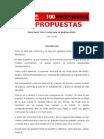 Las 100 propuestas de Ricardo Alfonsín