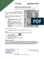 860 Dspi Home Certification Testing