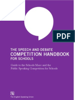 Speech Debate Competition Handbook