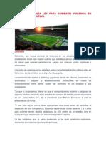 Colombia lanza ley para combatir violencia en estadios de fútbol