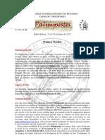 1ra Circular - Palimpsestos 2012