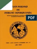 Revista Peruana de Derecho Internacional. Tomo I Julio-Agosto-Setiembre 1941 N° 1