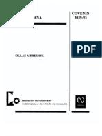 COVENIN 3039-93- Ollas a Presión (Vevezuela)