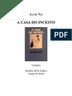 A Casa Do Incesto - Anaïs Nin