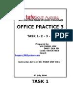 Office Practice 3(Task1,2,3,4)