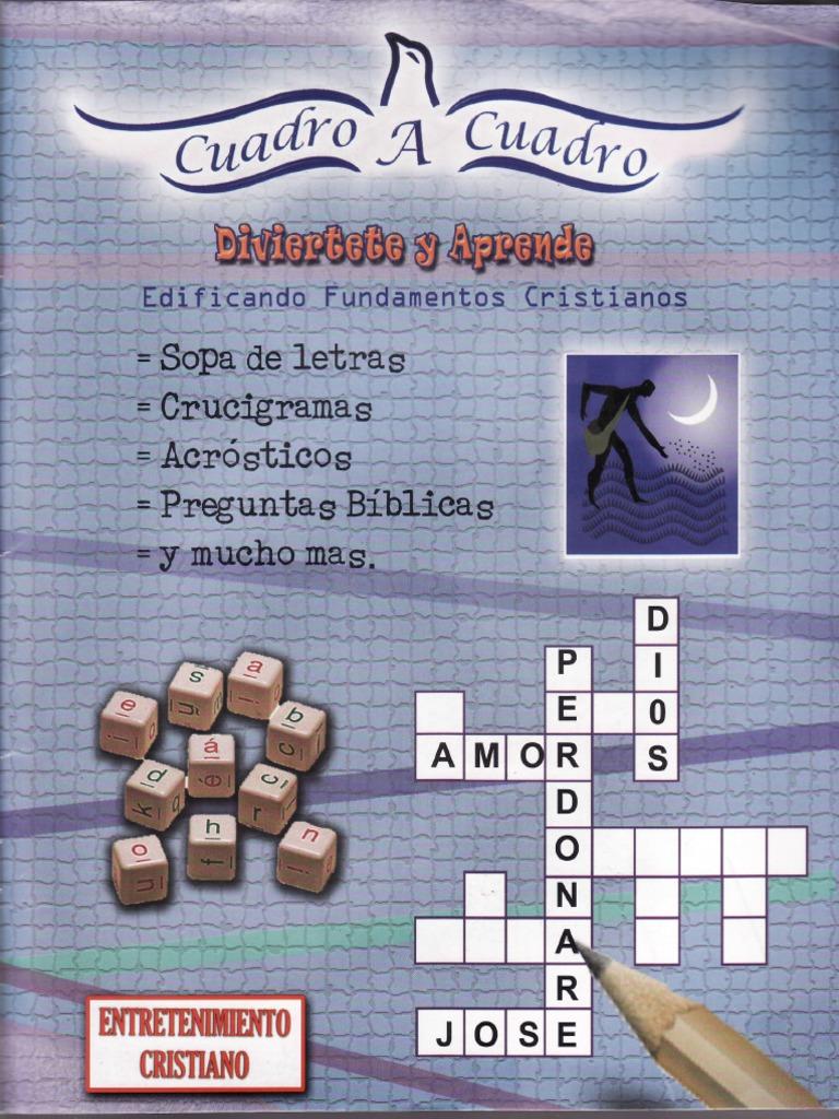 Cuadro a Cuadro: CRUCIGRAMAS, SOPA DE LETRAS BIBLICOS