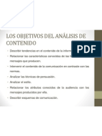 LOS OBJETIVOS DEL ANÁLISIS DE CONTENIDO