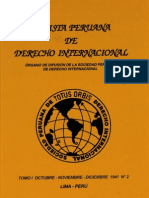 Revista Peruana de Derecho Internacional.Tomo I Octubre-Noviembre-Diciembre 1941 N°2