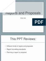 Reports and Proposals