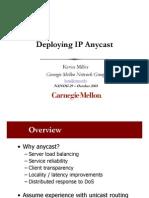Deploying IP Unicast