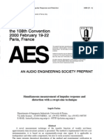 134-AES00 IR and THD Measuring