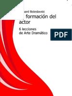 La Formacion Del Actor