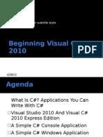 Beginning Visual c