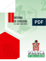 Secgob. 2 Informe Gobierno Ulises. 2006