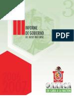 Secgob. 3 Informe Gobierno Ulises. 2007