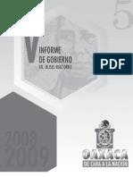Secgob. 5 Informe Gobierno Ulises. 2009