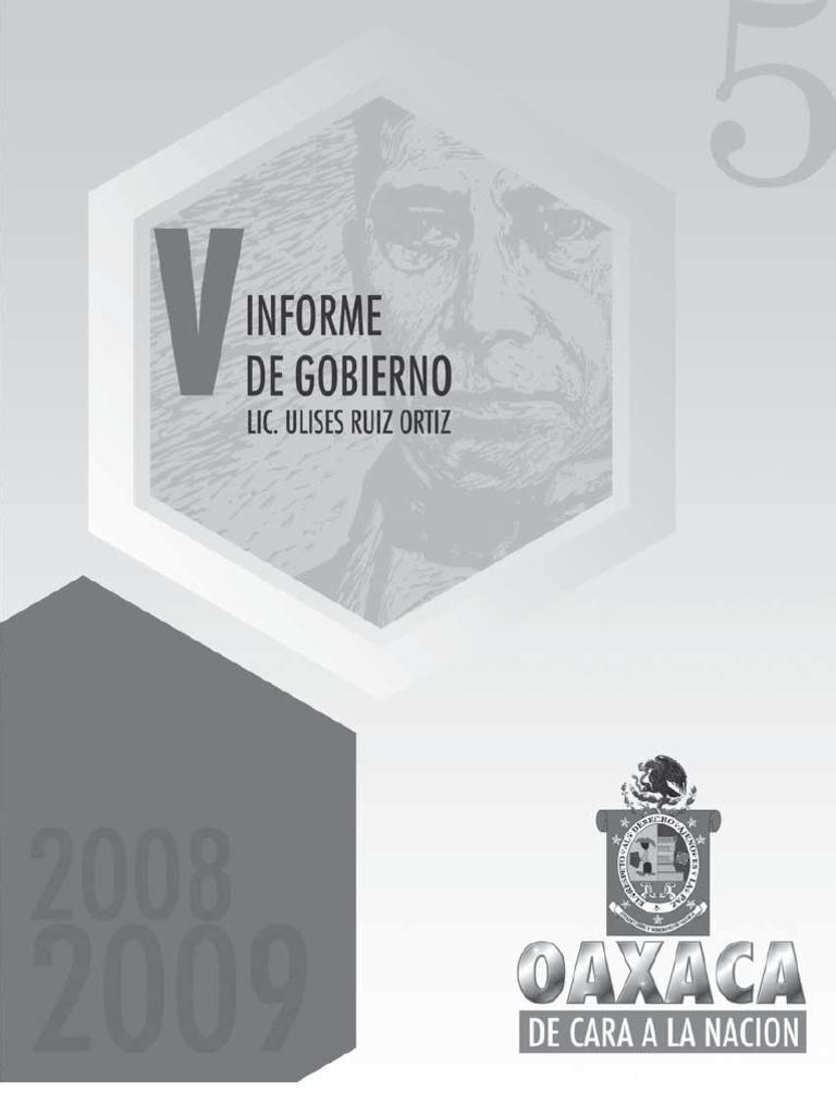 61f3b40d9 Secgob. 5 Informe Gobierno Ulises. 2009