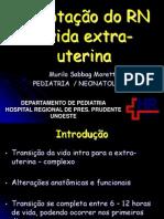 Adaptação do RN à vida extra-uterina