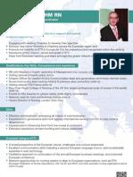 Gerry Bolger - Candidate for European Regional Coordinator for Sigma Theta Tau International