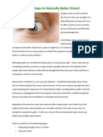 Naturally Improve Your Eyesight - Simple Steps to Naturally Better Vision