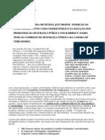 PROJETO DE GUARDA MUNICIPAL QUE PROPOE  INSERÇÃO DA COMUNIDADE (INFORMATIVO)