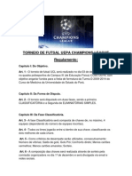 Regulamento-Torneio de Futsal Uepa Champions League
