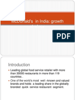 McDonald's growth in india