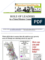 Role of Leaders - How CEOs can help inner city youth from birth to work