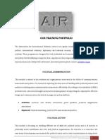 AIR Training Portfolio ENG