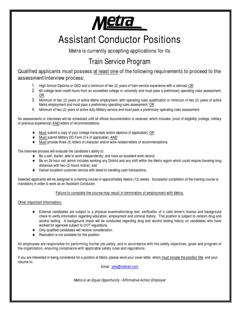 Assistant Conductor | Background Check (17 views)