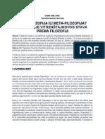 Antifilozofija ili metafilozofija