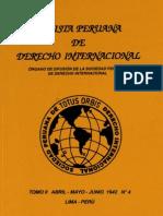 Revista Peruana de Derecho Internacional. Tomo II. Abril-Mayo-Junio. 1942  N° 4