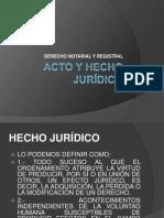 ACTO Y HECHO JURÍDICO