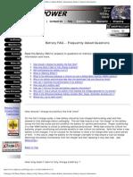 Battery FAQ