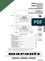 Marantz Sr8200-9200 Service Manual
