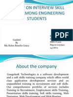 A Study on Interview Skill Needs Among Engineering Ppt