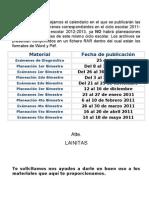 Fechas de Publicación de Materiales