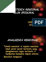 Analgesia Regional Blok Epidural